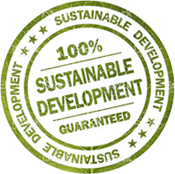 100% sustainable guaranteed badge